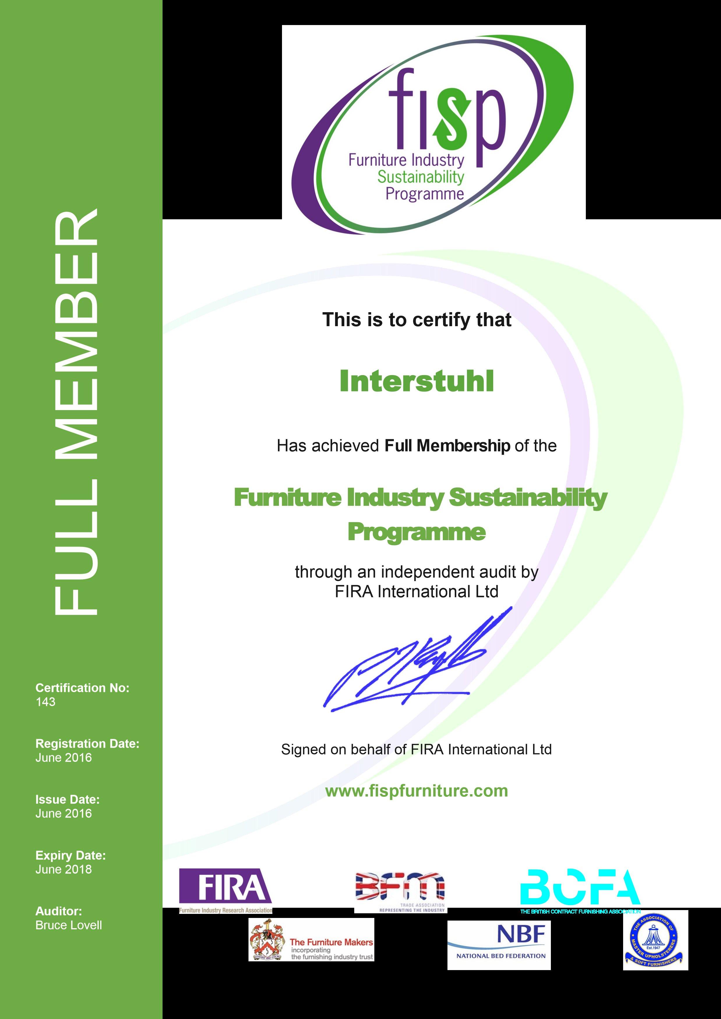 Interstuhl erreicht die vollwertige mitgliedschaft des international renommierten - Interstuhl jobs ...