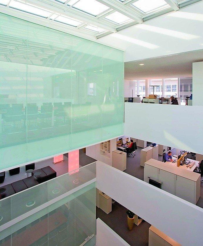 Das Bürogebäude Von Roche Pharma Mit Einer Büronutzfläche Von 5 500 M²  Bietet Diverse Raumsituationen. Foto: Schako AG/Partner AG