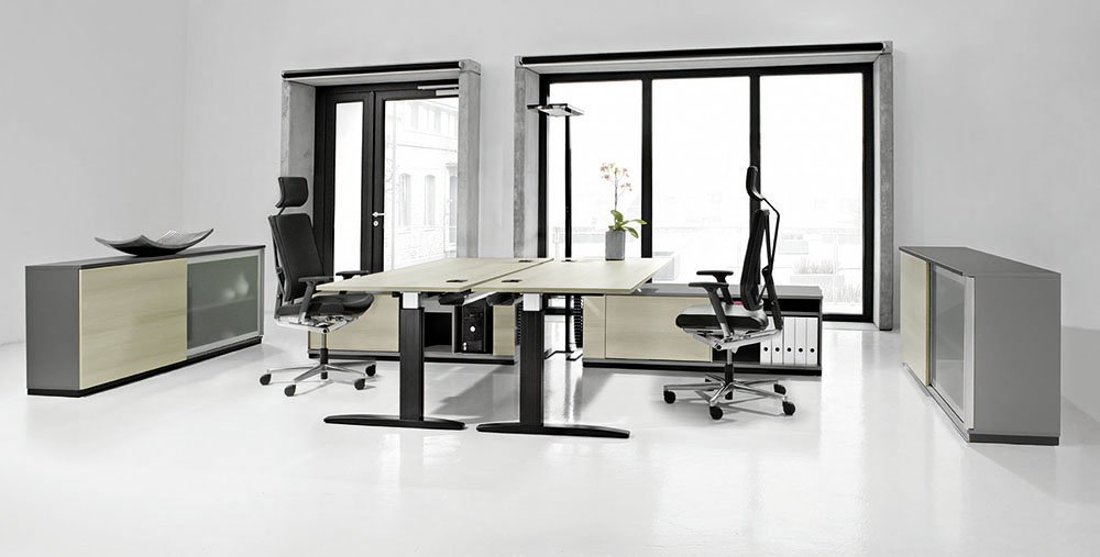 vitalform2 sitz steh arbeitsplatz von ceka. Black Bedroom Furniture Sets. Home Design Ideas